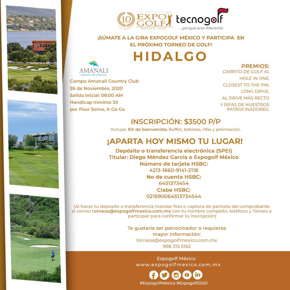 Torneo de golf en Hidalgo