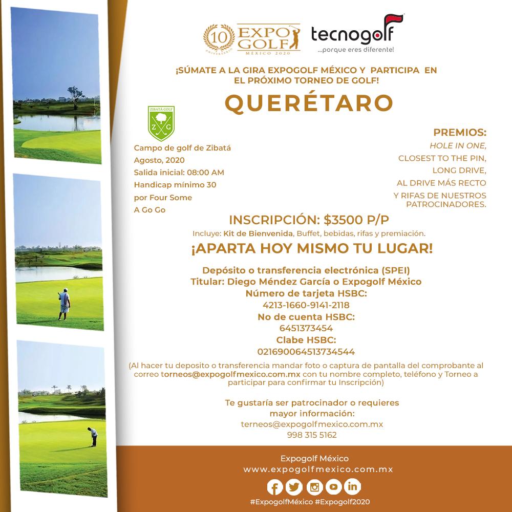 Torneo de golf en Querétaro