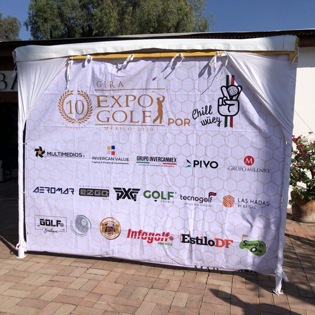 Lona de bienvenida del torneo de golf en querétaro