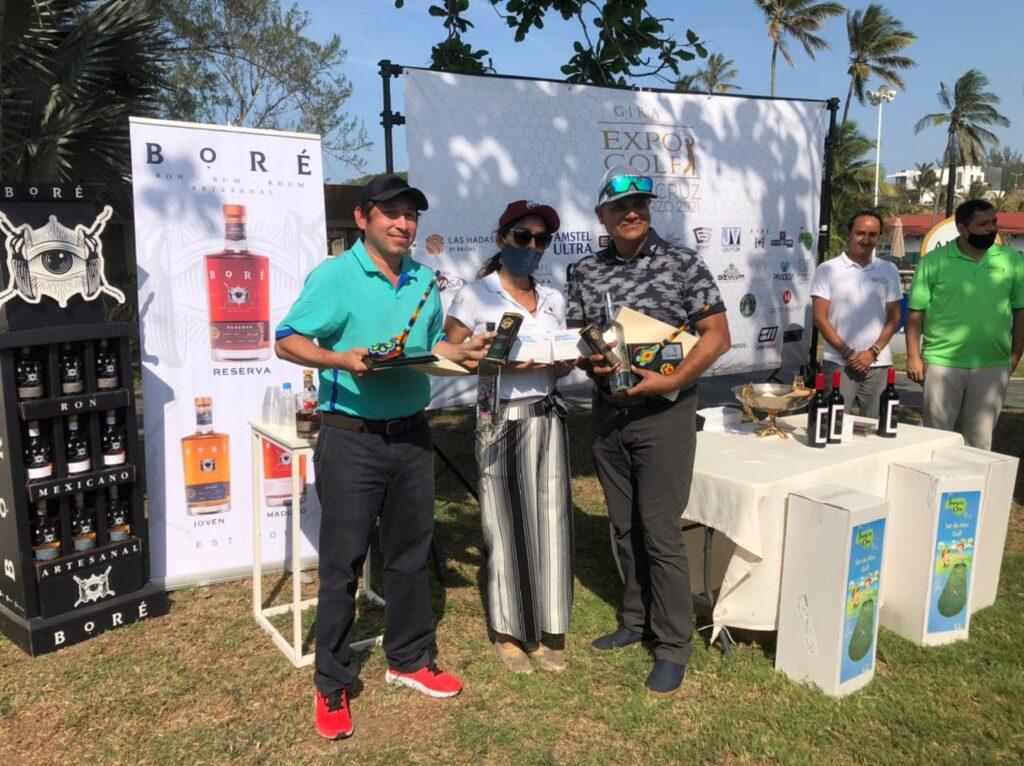 ganadores del torneo de golf en México en Veracruz